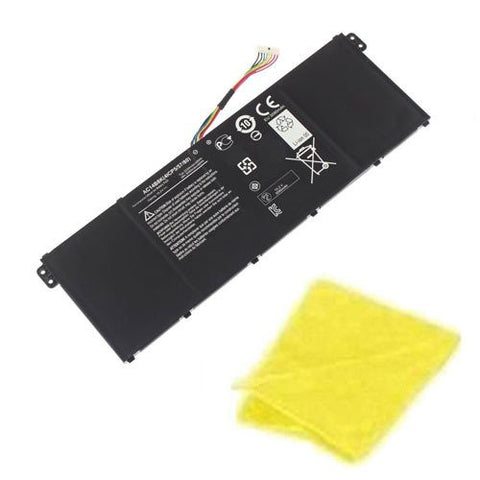 Amsahr® Replacement Battery for Acer AC14B8K, AC14B8K, AC14B18J, KT.0040G.004 (6 Cell, 48WH) - Includes Cleaning Cloth