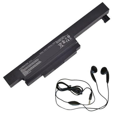 Amsahr® Extended Life Replacement Battery for MSI A32-A24, MSI CX480, CX480MX (11.1V, 4400mAh) - Includes Stereo Earphone