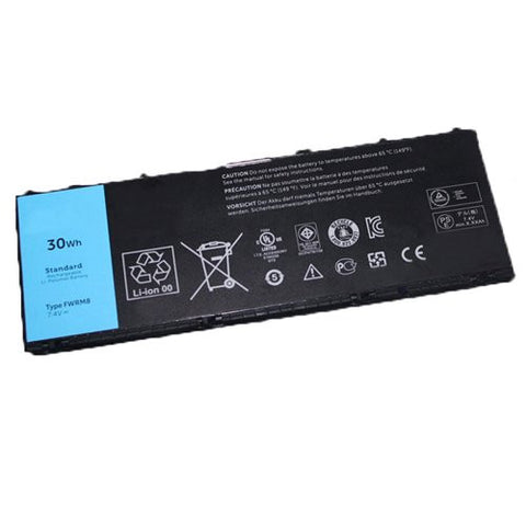 Amsahr® Extended Performance Replacement Battery for Dell Latitude 10, FWRM8, 1VH6G, 1XP35, 312-1412, C1H8N, KY1TV, PPNPH (4 Cell, 30WH)
