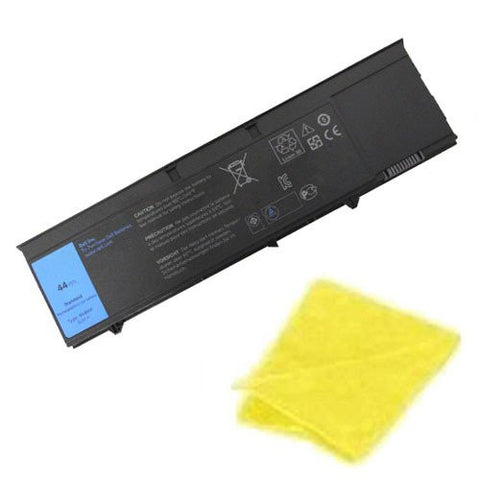 Amsahr® Replacement Battery for Dell XT3, RV8MP, 1NP0F, H6T9R, 37HGH (6 Cell, 44WH) - Includes Cleaning Cloth