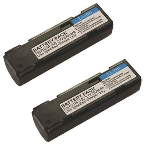 ValuePack (2 Count): Extended Performance Replacement Battery for Specific Digital Camera and Camcorder Models / Compatible with FujiFilm NP-100, FinePix MX-600, MX-600X, MX-600Z, MX-700, DS260
