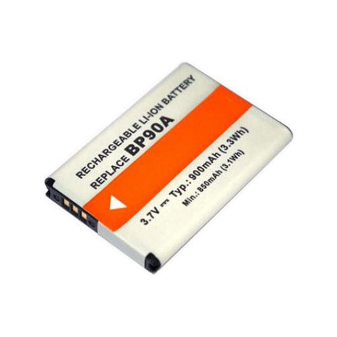 Extended Performance Replacement Battery for Specific Digital Camera and Camcorder Models / Compatible with Samsung BP-90A, IA-BP90A, HMX-E10, HMX-E10WP, HMX-E10BP, HMX-E10OP