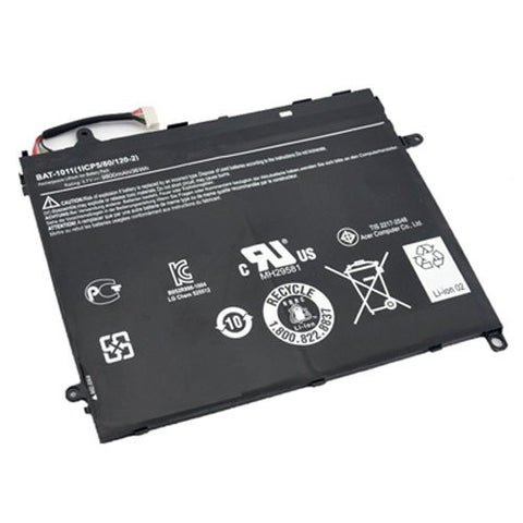 Amsahr® Extended Performance Replacement Battery for Acer Iconia Tab A510, BAT-1011, BAT-1011, 1ICP5-80-120-2 (4 Cell, 36WH)