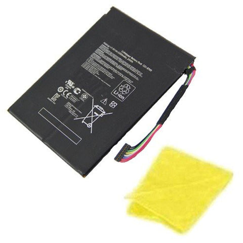 Amsahr® Replacement Battery for Asus C21-EP101, C21EP101, Eee Transformer TF101, TF101-X1 16GB, TF101-1B001A, TF101-1B002A, TF101-1B003A (7.4V, 3300 mAh) - Includes Cleaning Cloth