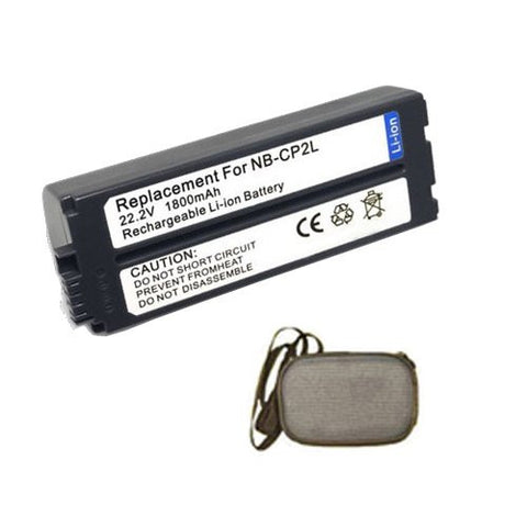 Extended Life Replacement Battery for Specific Digital Camera and Camcorder Models / Compatible with Canon NB-CP2L, NB-CP1L, CP730, CP710, CP600, CP510, CP330, CP300, CP200, CP100 - Includes Hard Case Camera Bag