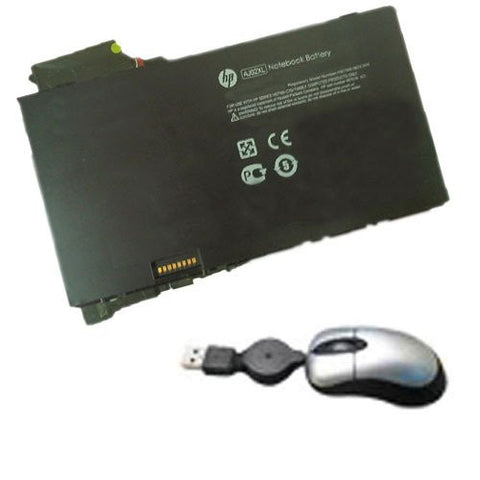 Amsahr® Replacement Battery for HP AJ02XL, 650518-1C1, 650945-001, HSTNN-C75J (21Wh, 2 Cells) - Includes Mini Optical Mouse