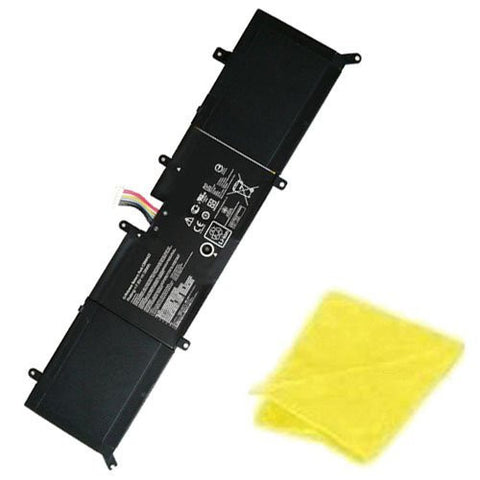 Amsahr® Replacement Battery for Asus C21N1423, X302LJ, FN016H, FN027H, FN050H, R4073, FN017H, FN037H, X302LA, FN049H, FN097H, FN033H (38Wh, 7.6V, 4 Cell) - Includes Cleaning Cloth