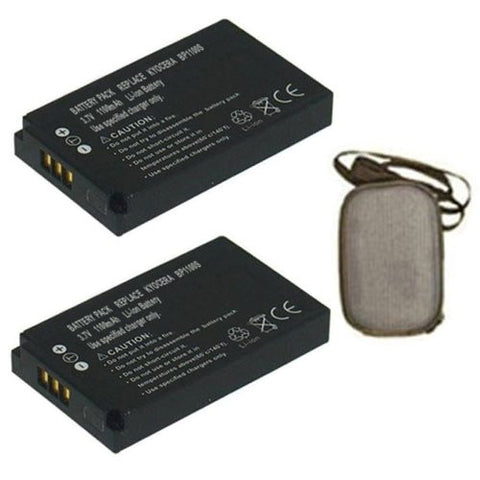 ValuePack (2 Count): Extended Life Replacement Battery for Specific Digital Camera and Camcorder Models / Compatible with Kyocera BP-1100s, Contax U4R, Kyocera Contax U4RBK, Kyocera Contax U4RB - Includes Hard Case Camera Bag