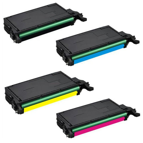 ValuePack Set(4 Count): Includes Remanufactured Replacement Samsung Drums for select Printers / Faxes Compatible with Samsung CLP660-Includes 1 Set of BLACK, MAGENTA, YELLOW and CYAN Cartridges.