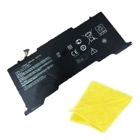 Laptop Replacement Battery for select ASUS Laptop / Notebook / Compatible with Asus UX305, U305F 13.3 inch, U305L (45Wh, 11.4 V, 3 Cells) - Includes Cleaning Cloth