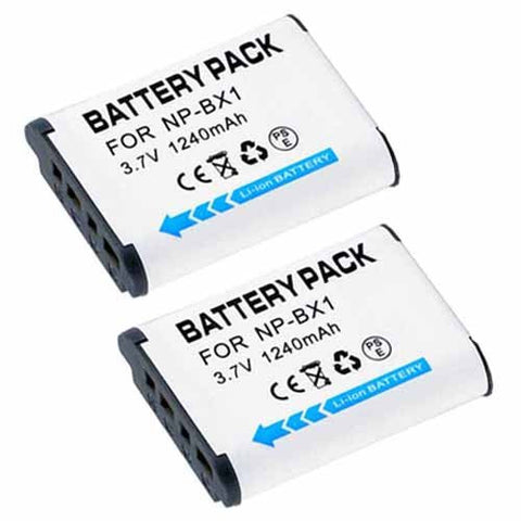 ValuePack (2 Count): Extended Performance Replacement Battery for Specific Digital Camera and Camcorder Models / Compatible with Sony NP-BX1, NPBX1, NP BX1, HDR-AS10, HDR-AS15, DSC-HX50V, DSC-RX1, DSC-RX100