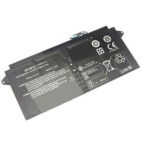 Amsahr® Superior Quality Replacement Battery for Acer TravelMate Acer Aspire S7, 13, Aspire S7 Ultrabook(13-inch), AP12F3J (4 Cell, 4680 mAh)
