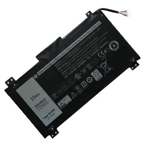 Amsahr® Extended Performance Replacement Battery for DELL 9KY5O, 9KY50, 4ICP3/40/72 (19Wh, 15.2V)