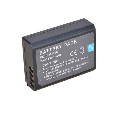 Extended Performance Replacement Battery for Specific Digital Camera and Camcorder Models / Compatible with Canon LP-E10, LPE10, EOS 1100D, EOS Rebel T3, EOS Kiss X50