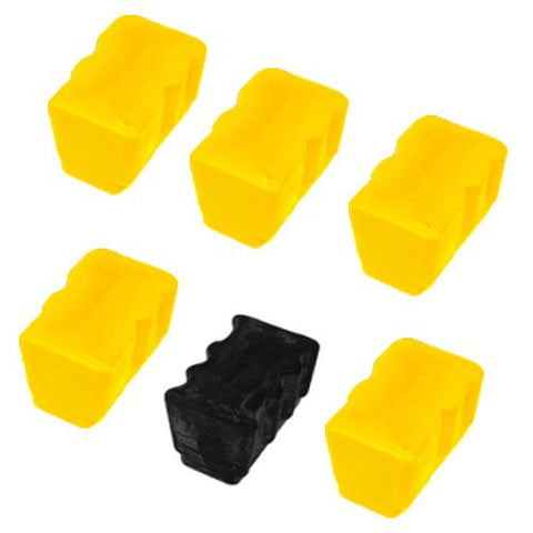 ValuePack Set (6 Count): Includes EXPEDITED SHIPPING AT CHECKOUT With Xerox Phaser 860 Remanufactured Replacement Ink Sticks compatible with Xerox Phaser 860, Phaser 860dp, Phaser 860n, Phaser 860b - Includes Set of 6: 5 Yellow and 1 Black Ink Sticks