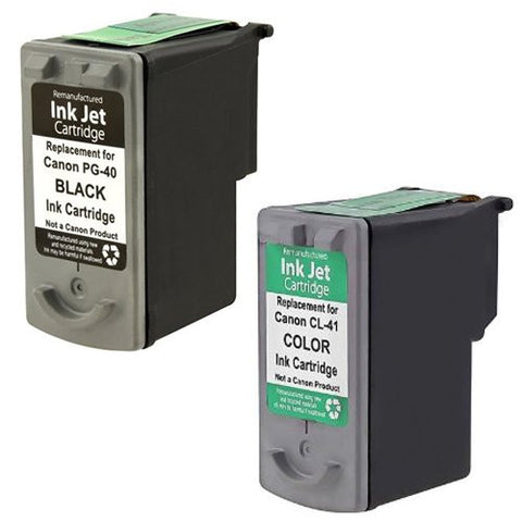 ValuePack Set (2 Count): Includes EXPEDITED SHIPPING AT CHECKOUT With Remanufactured Replacement Canon Ink Cartridge for select Printers / Faxes Compatible with Canon FAX: JX200, JX210P, PIXMA-Includes 1 set of 1 BLACK and 1 COLOR Cartridges.