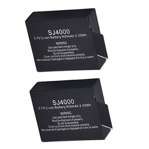 ValuePack (2 Count): Extended Performance Replacement Battery for Specific Digital Camera and Camcorder Models / Compatible with SJ4000, SJ5000, M10, SJ5000 Plus, SJ4000 Action Camera