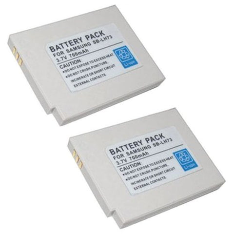 ValuePack (2 Count): Extended Performance Replacement Battery for Specific Digital Camera and Camcorder Models / Compatible with Samsung SBL-H73, SBLH73, SDC-MS61 SDC-MS61S