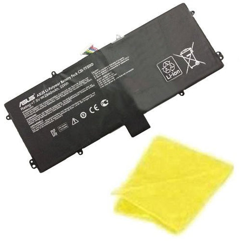 Amsahr® Replacement Battery for ASUS C21-TF201D, TF201-B1-CG, TF201-B1-GR, TF201-C1-CG, TF201-C1-GR CC21-TF201D (2940 mAh, 22Wh) - Includes Cleaning Cloth
