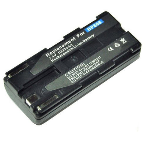 Extended Performance Replacement Battery for Specific Digital Camera and Camcorder Models / Compatible with Canon BP-608, BP-608A, BP-617, CV-11, DV-MV100, DV-MV20, DV-MV20i, ELURA PV1, ZR-CV, DM-CV11, DM-MV100, DM-PV1, MV-20, MV-20i