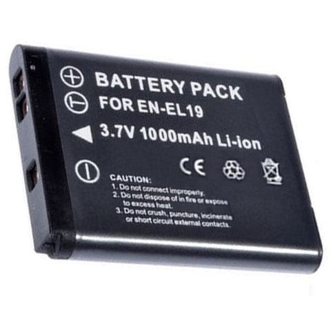 Extended Performance Replacement Battery for Specific Digital Camera and Camcorder Models / Compatible with Nikon EN-EL19, ENEL19, Coolpix S100, S2500, S2600, S2700, S3100, S3200, S3300, S3500, S4100, S4150, S4200, S4300, S4400, S5200, S6400, S6500
