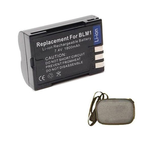Extended Life Replacement Battery for Specific Digital Camera and Camcorder Models / Compatible with Olympus BLM-1, CAMEDIA C-5060 Wide Zoom, C7070, C-8080 Wide Zoom, E-1, E300, E500, E330, E510, E520, E-3, E-30 - Includes Hard Case Camera Bag