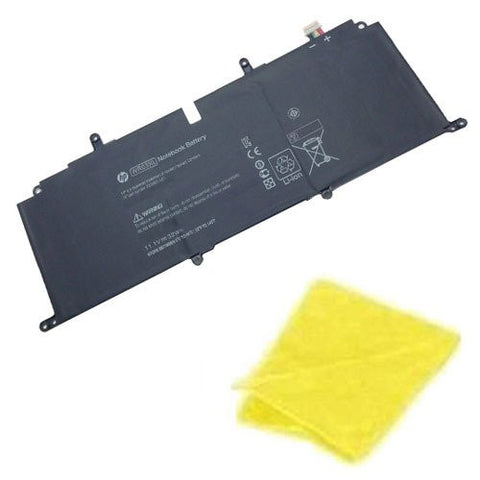 Amsahr® Replacement Battery for HP WR03XL, HSTNN-IB5J, WR03XL, 725607-001, 725497-1c1 (11.1V, 32Wh) - Includes Cleaning Cloth