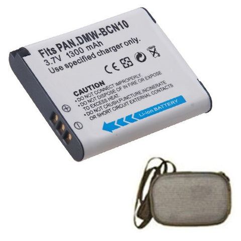 Extended Life Replacement Battery for Specific Digital Camera and Camcorder Models / Compatible with Panasonic DMW-BCN10, DMW-BCN10E, Lumix DMC-LF1 - Includes Hard Case Camera Bag