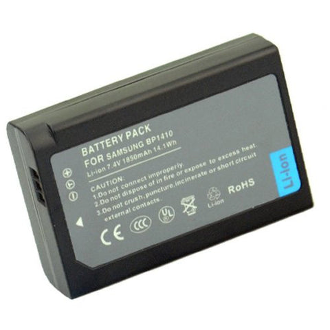 Extended Performance Replacement Battery for Specific Digital Camera and Camcorder Models / Compatible with Samsung IA-BP1410, BP-1410, BP1410, WB2200F, NX30