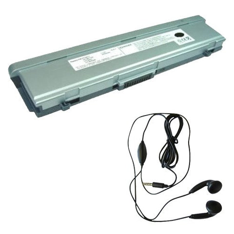 Amsahr® Extended Life Replacement Battery for Fujitsu FPCBP77, FPCBP78, FMVTBBP105, FPCBP165AP, FPCBP67AP, FPCBP78AP, ST4000P, ST4120P, ST5010, ST5020, ST5022 (6Cell, 4400mAh)-Includes Stereo Earphone