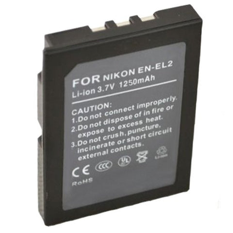 Extended Performance Replacement Battery for Specific Digital Camera and Camcorder Models / Compatible with Nikon EN-EL2, ENEL2, Coolpix 2500, Coolpix 3500, Coolpix SQ