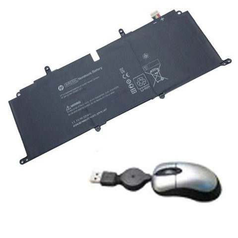 Amsahr® Replacement Battery for HP WR03XL, HSTNN-IB5J, WR03XL, 725607-001, 725497-1c1 (11.1V, 32Wh) - Includes Mini Optical Mouse