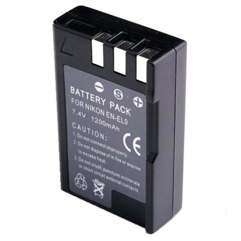 Extended Performance Replacement Battery for Specific Digital Camera and Camcorder Models / Compatible with Nikon EN-EL9, EN-EL9a, EN-EL9e, D3000, D40, D40x, D5000, D60