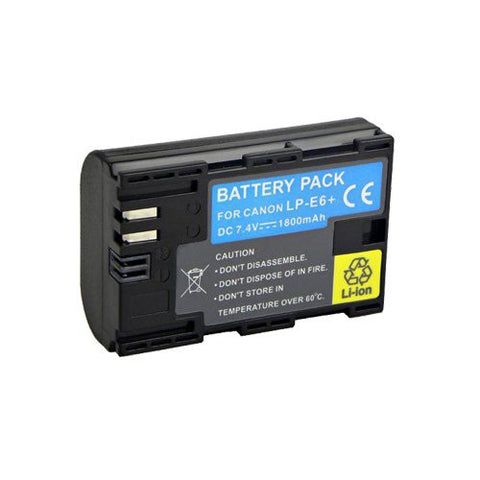 Extended Performance Replacement Battery for Specific Digital Camera and Camcorder Models / Compatible with Canon LP-E6, LPE6, EOS 7D, EOS 5D Mark II