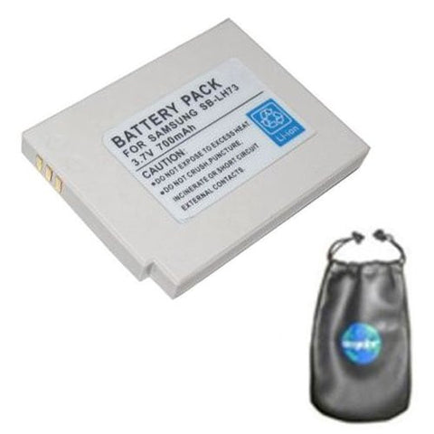 Digital Replacement Battery for Specific Digital Camera and Camcorder Models / Compatible with Samsung SBL-H73, SBLH73, SDC-MS61 SDC-MS61S - Includes Leatherette Camera / Lens Accessories Pouch