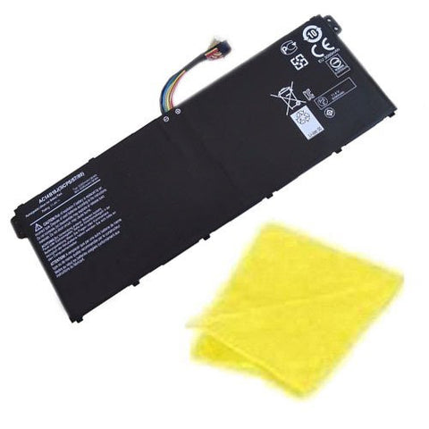 Amsahr® Replacement Battery for Acer AC14B18J, CB5-311, AC14B18J, AC14B8K (3 Cell, 3220 mAh, 36WH) - Includes Cleaning Cloth