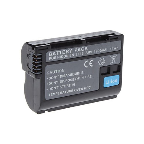 Extended Performance Replacement Battery for Specific Digital Camera and Camcorder Models / Compatible with Nikon EN-EL15, ENEL15, 1 V1, D600, D7000, D7100, D800, D800E