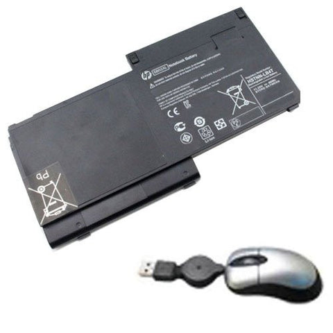 Amsahr® Replacement Battery for HP SB03XL, HP Spectre XT TouchSmart 15-4000eg Ultrabook, 697231-171 Hstnn-IBPW PW04XL TPN-C105 (3240 mAh, 48Wh, 8 Cells) - Includes Mini Optical Mouse