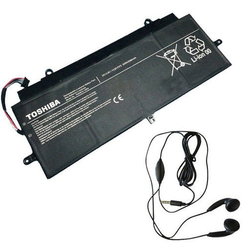 Amsahr® Extended Life Replacement Battery for Toshiba PA5097U, Toshiba PA5097U-1BRS Laptop, PA5097U-1BRS (3380 mAh, 52Wh) - Includes Stereo Earphone
