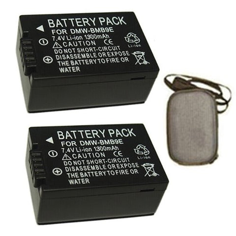 ValuePack (2 Count): Extended Life Replacement Battery for Specific Digital Camera and Camcorder Models / Compatible with Panasonic BM-B9, DMC-FZ150, DMC-FZ47, DMC-FZ40, DMC-FZ100 - Includes Hard Case Camera Bag