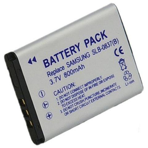 Extended Performance Replacement Battery for Specific Digital Camera and Camcorder Models / Compatible with Samsung SLB-0837B, SLB0837B, Digimax L70, Digimax L70B, L83T, NV10, VLUU L201, NV15, NV20, VLUU NV10