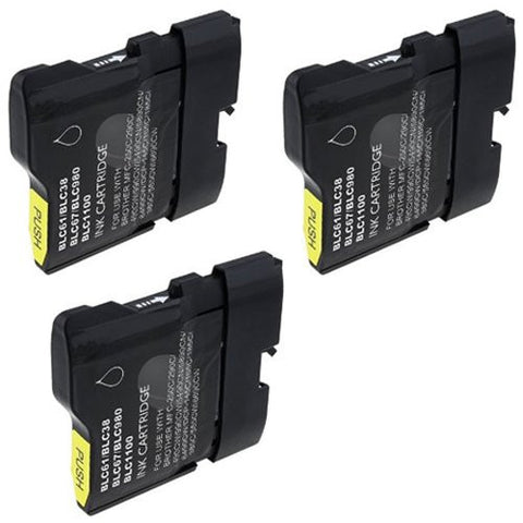 ValuePack (3 Count): Includes Compatible Replacement Brother Ink Cartridges for select Printers / Faxes Compatible with Brother DCP-165C, MFC-290C, MFC-490CW, MFC-5490CN, MFC-5890CN, MFC-6490CW, MFC-790CW, LC61-Includes THREE BLACK Cartridges.