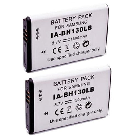 ValuePack (2 Count): Extended Performance Replacement Battery for Specific Digital Camera and Camcorder Models / Compatible with Samsung IA-BH130LB, IABH130LB, SMX-C10, SMX-C20, SMX-K40, SMXC10, SMXC20, SMXK40
