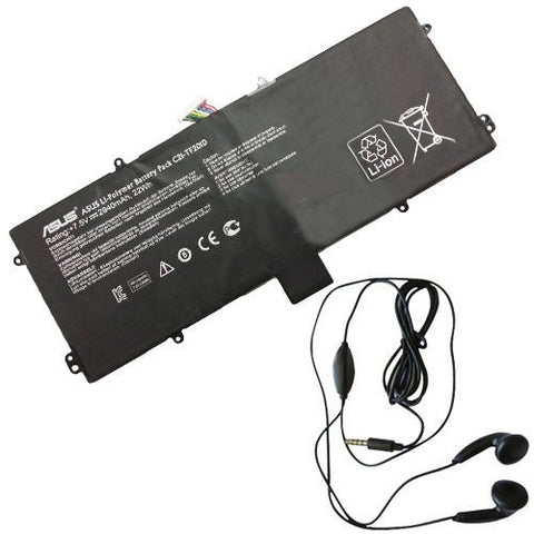 Amsahr® Extended Life Replacement Battery for ASUS C21-TF201D, TF201-B1-CG, TF201-B1-GR, TF201-C1-CG, TF201-C1-GR CC21-TF201D (2940 mAh, 22Wh) - Includes Stereo Earphone