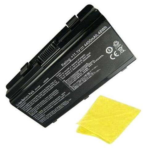 Amsahr® Replacement Battery for ASUS H24, Philco PHN14PH24, Megaware C2, NEO A3152, A3150, 2252, 4100, 4200, 4030, Kennex 420, 321, 327, 328 (6 Cell, 4400 mAh) - Includes Cleaning Cloth