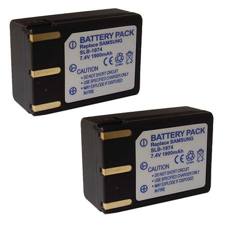 ValuePack (2 Count): Extended Performance Replacement Battery for Specific Digital Camera and Camcorder Models / Compatible with Samsung SLB-1974, SLB1974, Pro 815, Pro 815SE