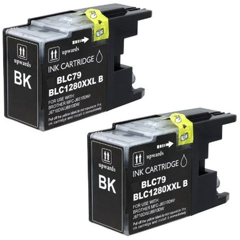 ValuePack (2 Count): Includes Compatible Replacement Brother Ink Cartridges for select Printers / Faxes Compatible with Brother MFC-J6510, MFC-J6710, MFC-J6910, LC79- Includes TWO BLACK Cartridges.