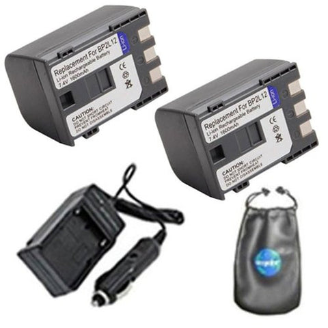Canon BP2L12, DC410 Digital Replacement Battery Plus Travel Charger