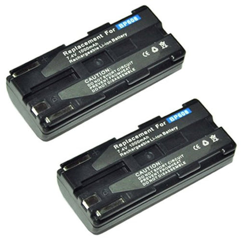 ValuePack (2 Count): Extended Performance Replacement Battery for Specific Digital Camera and Camcorder Models / Compatible with Canon BP-608, BP-608A, BP-617, CV-11, DV-MV100, DV-MV20, DV-MV20i, ELURA PV1, ZR-CV, DM-CV11, DM-MV100, DM-PV1, MV-20, MV-20i