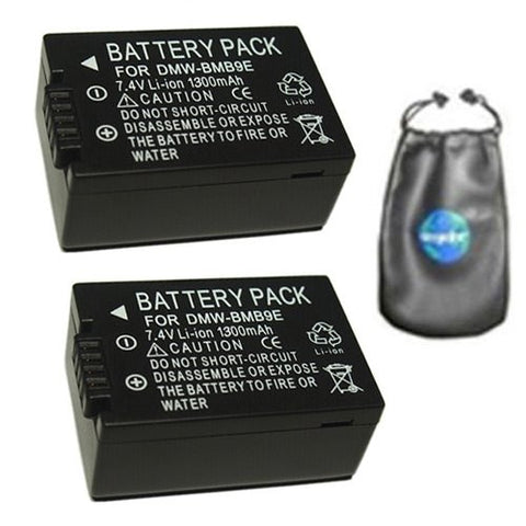 ValuePack (2 Count): Digital Replacement Battery for Specific Digital Camera and Camcorder Models / Compatible with Panasonic BM-B9, DMC-FZ150, DMC-FZ47, DMC-FZ40, DMC-FZ100 - Includes Leatherette Camera / Lens Accessories Pouch